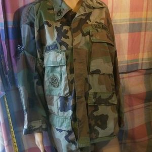 Army button-down shirt